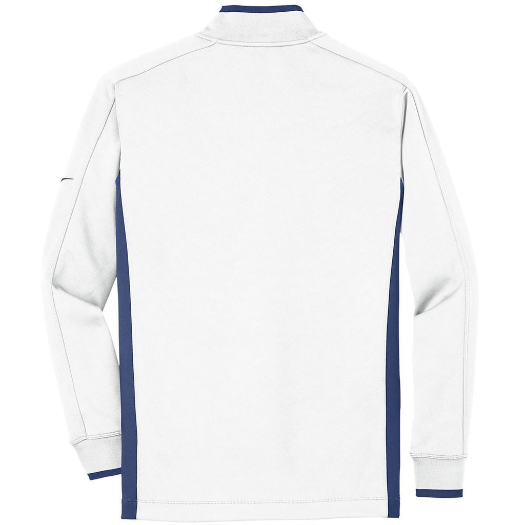 Nike Men's White Dri-FIT L/S Quarter Zip Shirt