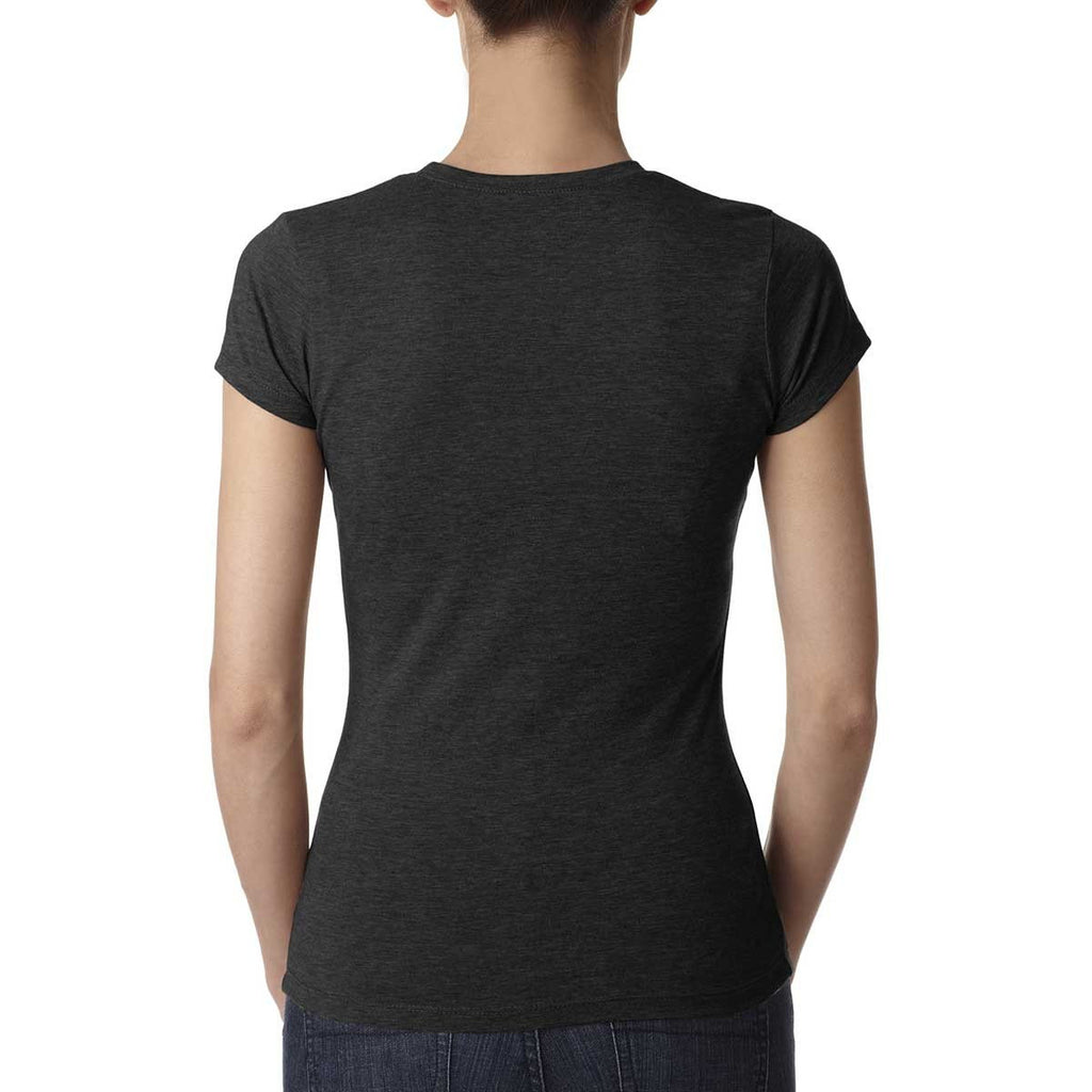 Next Level Women's Black Poly/Cotton Short-Sleeve Tee