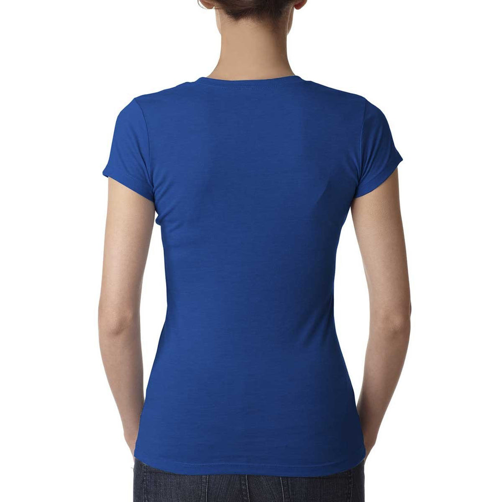 Next Level Women's Royal Poly/Cotton Short-Sleeve Tee