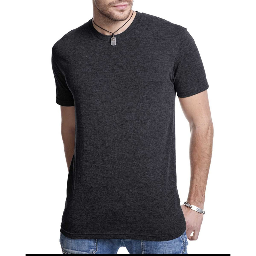 Next Level Men's Vintage Black Triblend Crew Tee
