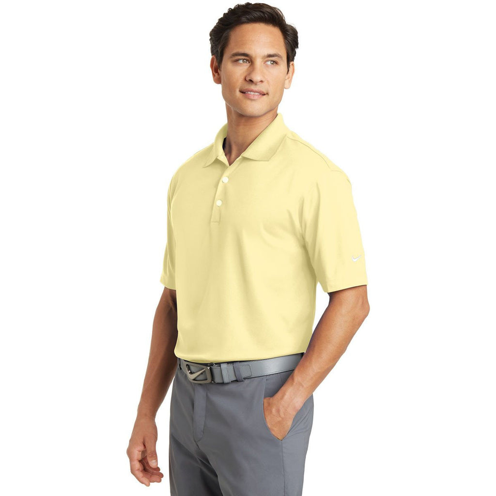 Nike Men's Tall Light Yellow Dri-FIT S/S Micro Pique Polo
