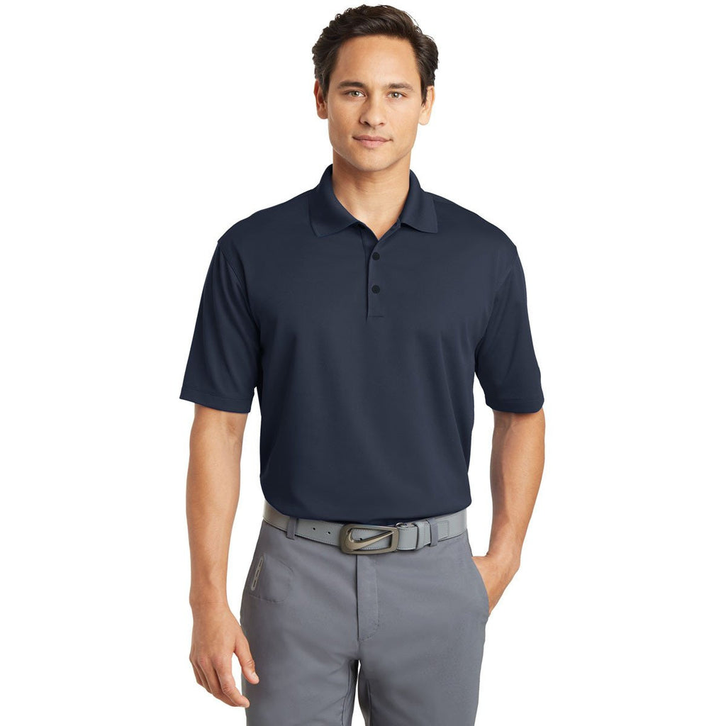 Nike Men's Tall Navy Dri-FIT S/S Micro Pique Polo