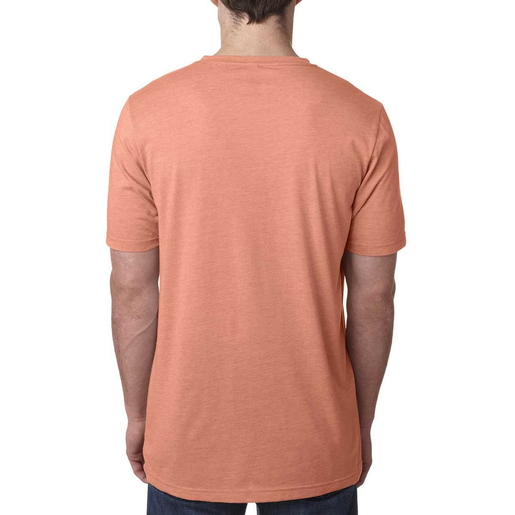 Next Level Men's Light Orange Poly/Cotton Short-Sleeve Crew Tee