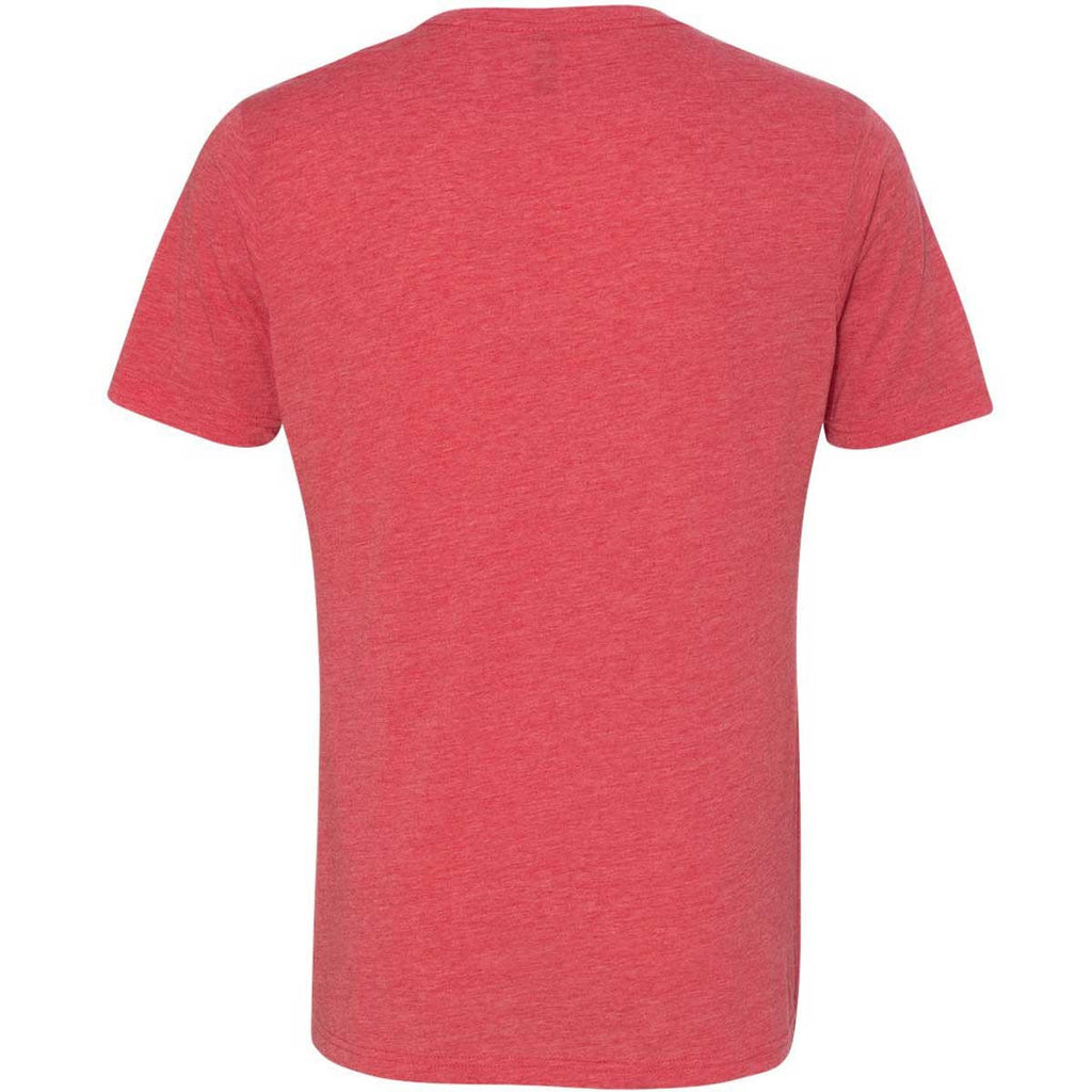Next Level Men's Red Poly/Cotton Short-Sleeve Crew Tee