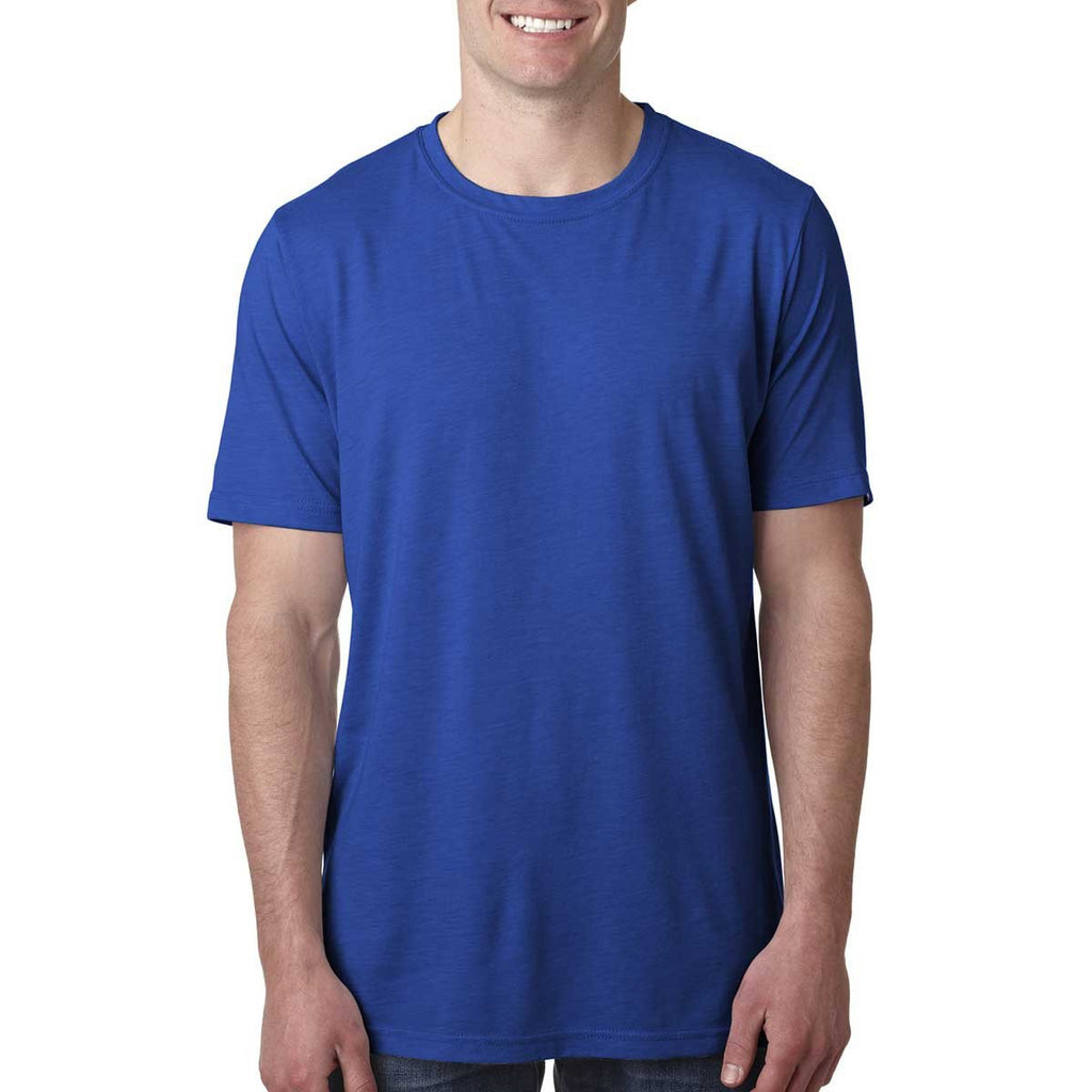 Next Level Men's Royal Poly/Cotton Short-Sleeve Crew Tee
