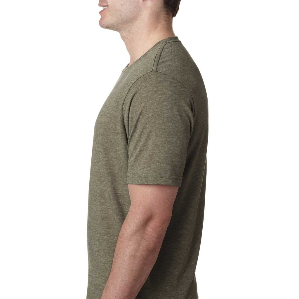 Next Level Men's Sage Poly/Cotton Short-Sleeve Crew Tee