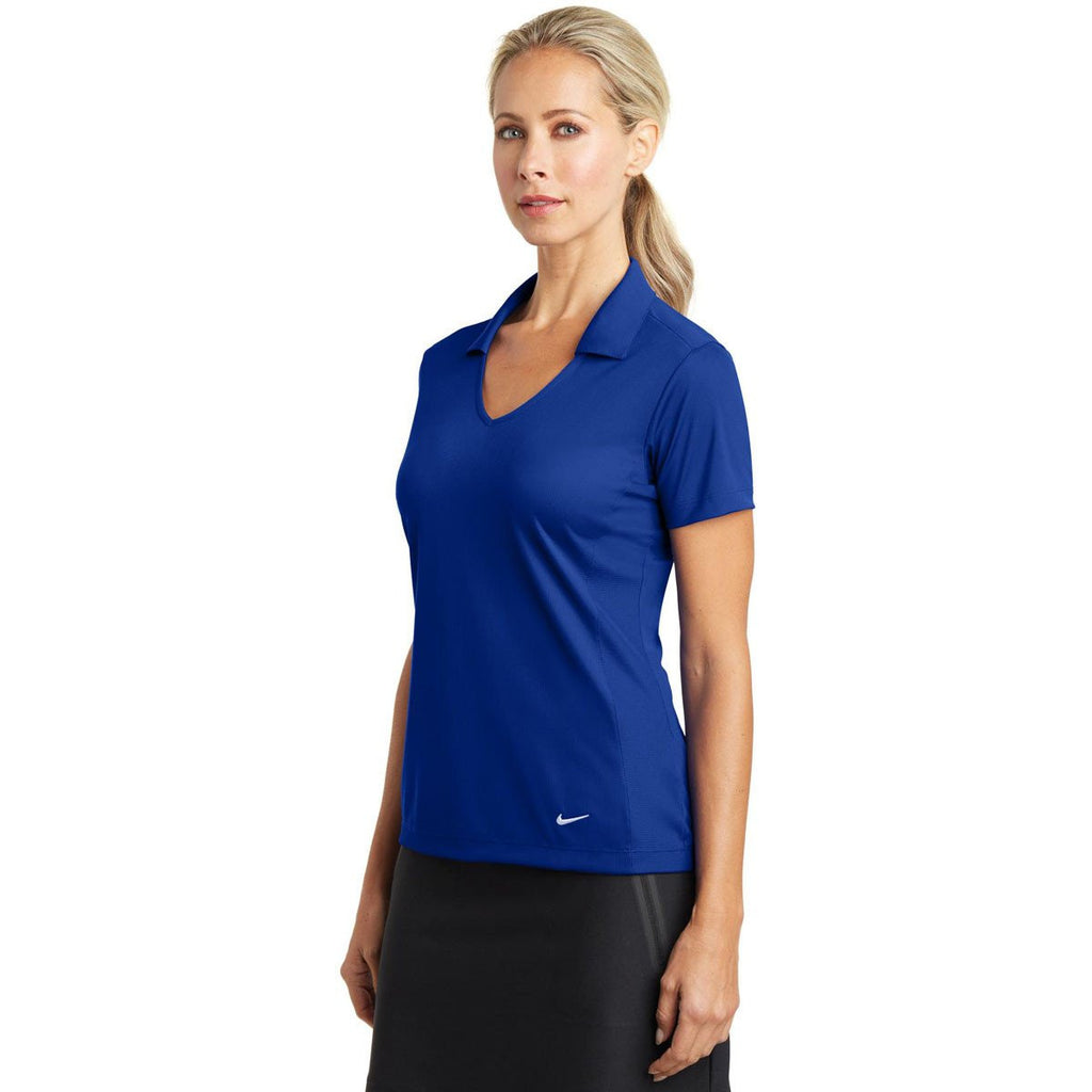 Nike Women's Royal Dri-FIT S/S Vertical Mesh Polo