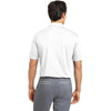 Nike Men's White Dri-FIT S/S Vertical Mesh Polo
