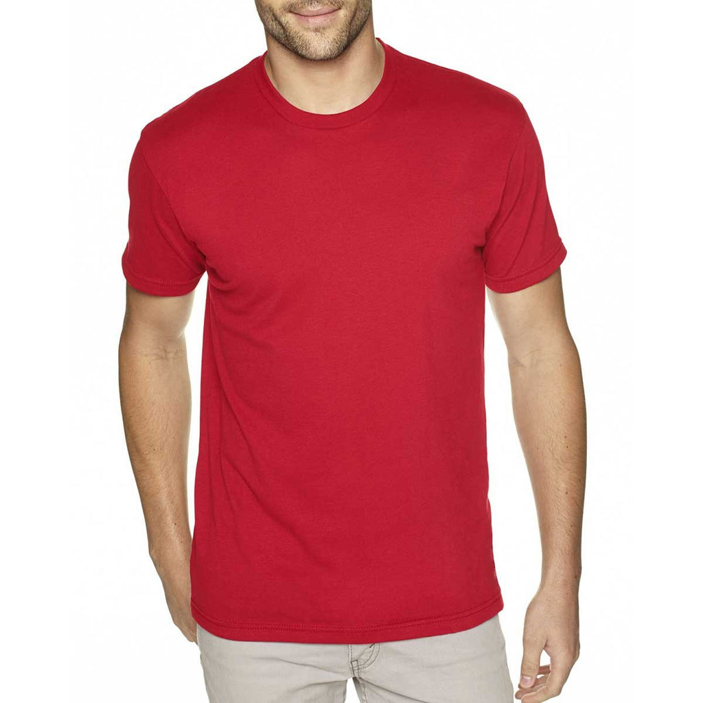 Next Level Men's Red Premium Fitted Sueded Crew