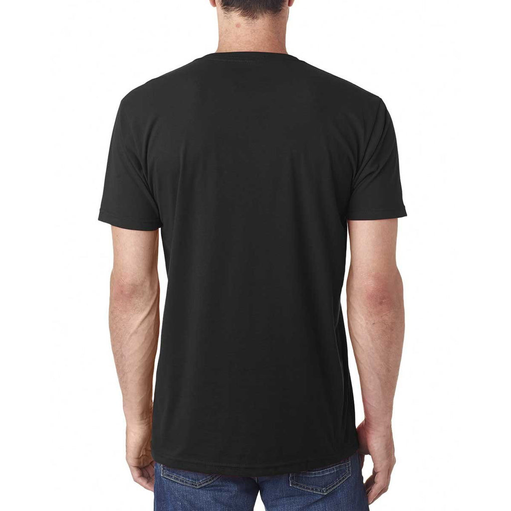 Next Level Men's Black Premium Fitted Sueded V-Neck Tee