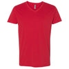 6440-next-level-red-v-neck-tee