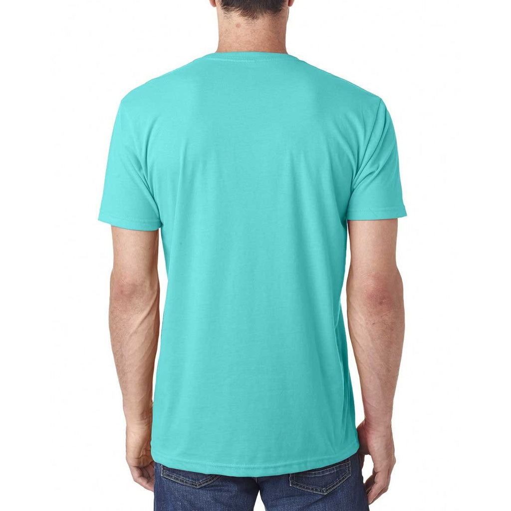 Next Level Men's Tahiti Blue Premium Fitted Sueded V-Neck Tee