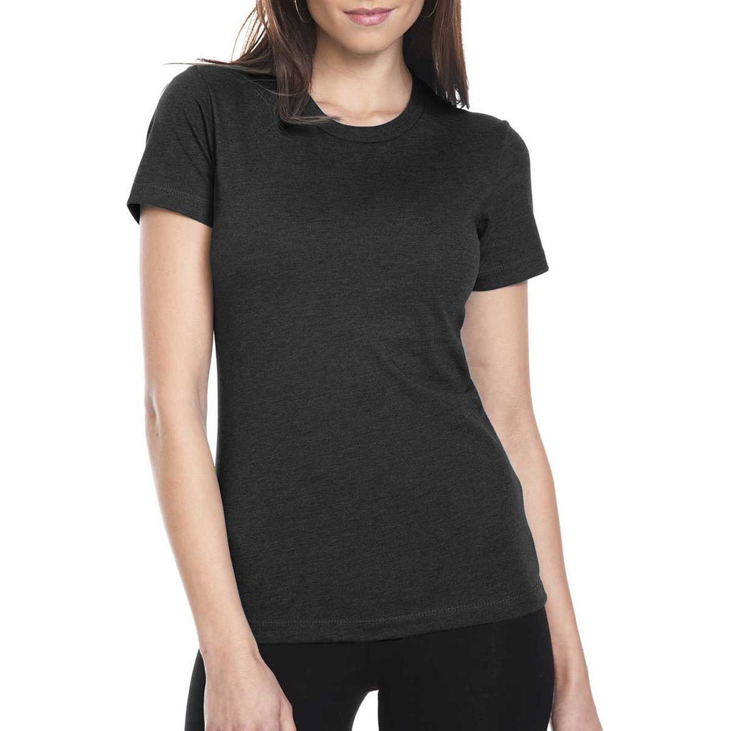 Next Level Women's Black CVC Crew Tee