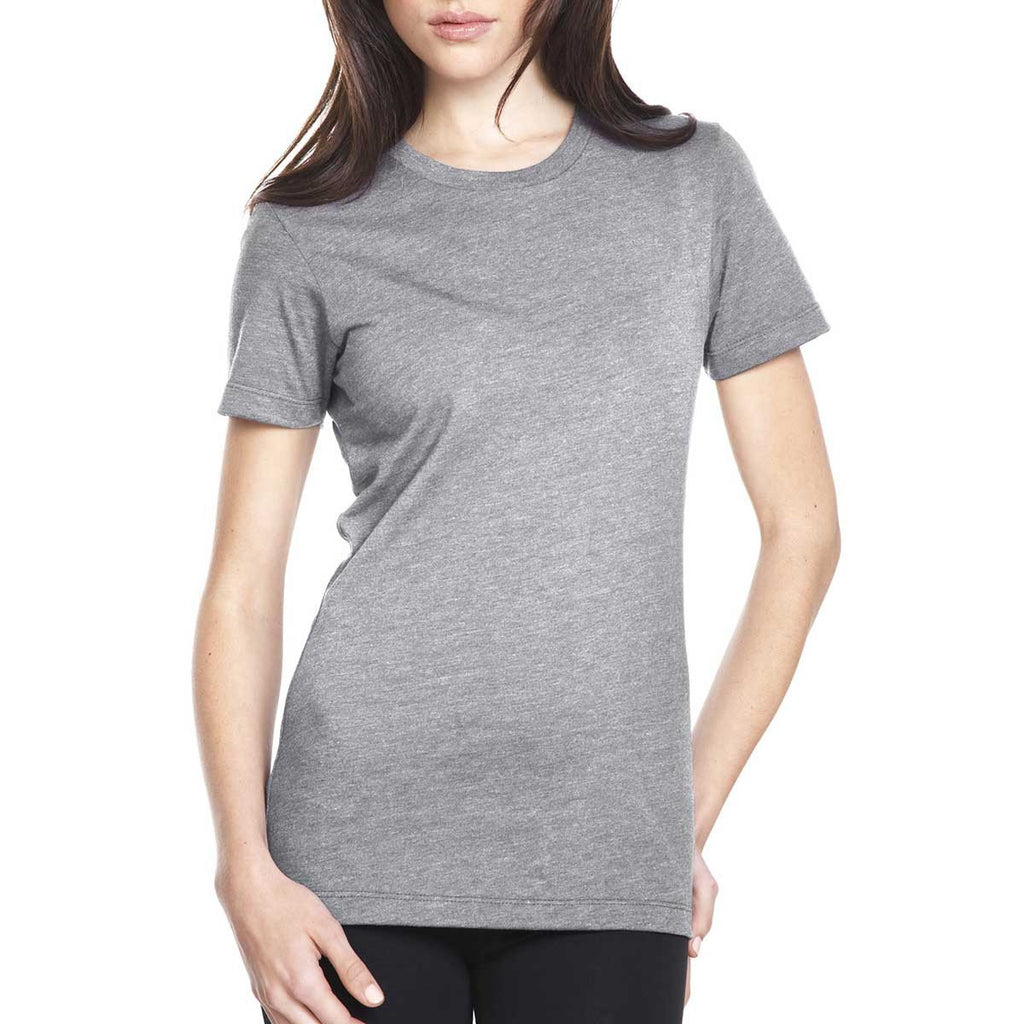 Next Level Women's Dark Heather Gray CVC Crew Tee