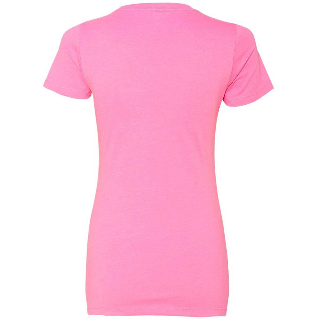 Next Level Women's Hot Pink CVC Crew Tee