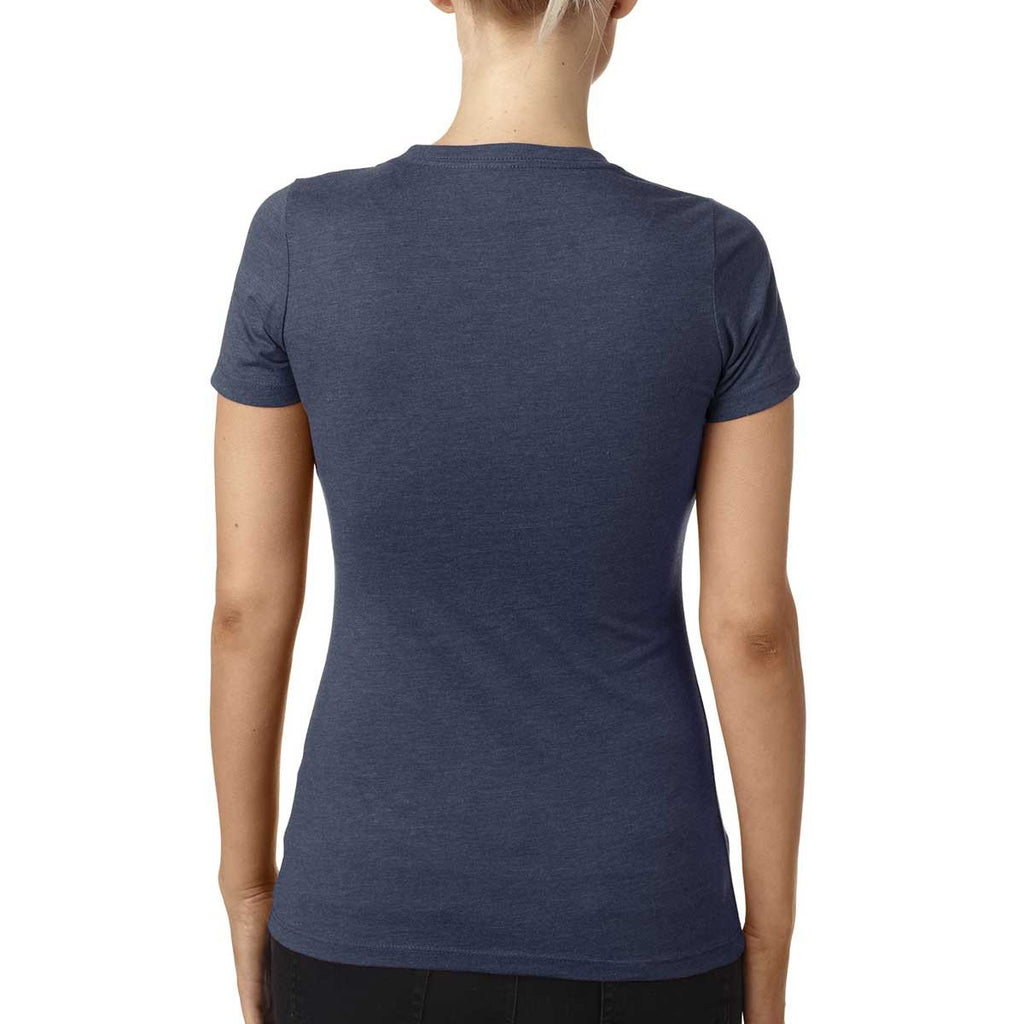 Next Level Women's Indigo CVC Crew Tee