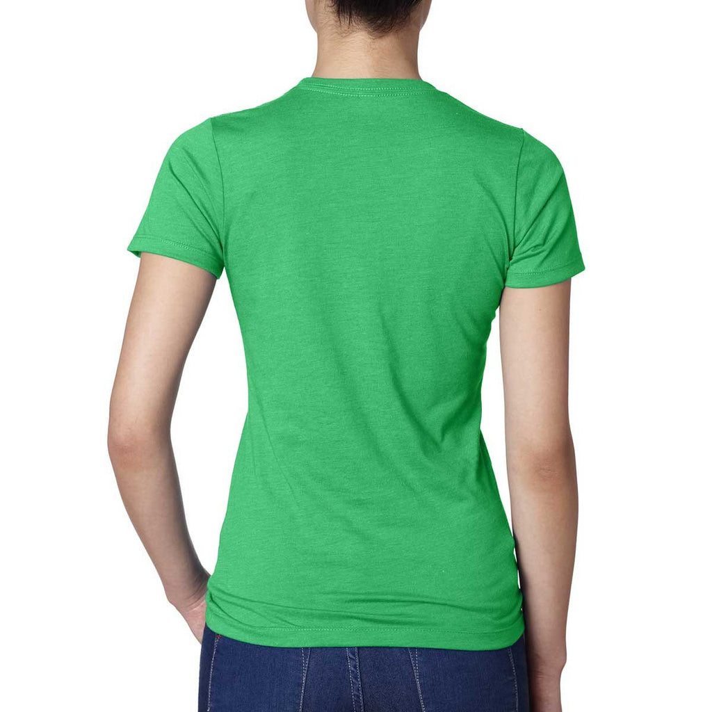 Next Level Women's Kelly Green CVC Crew Tee