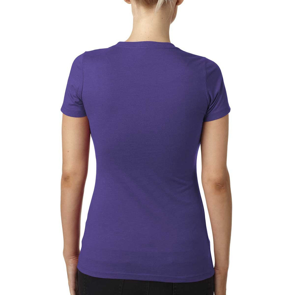 Next Level Women's Purple Rush CVC Crew Tee