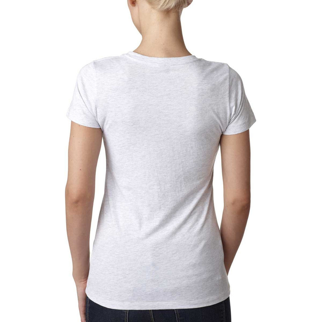 Next Level Women's Heather White Triblend Crew