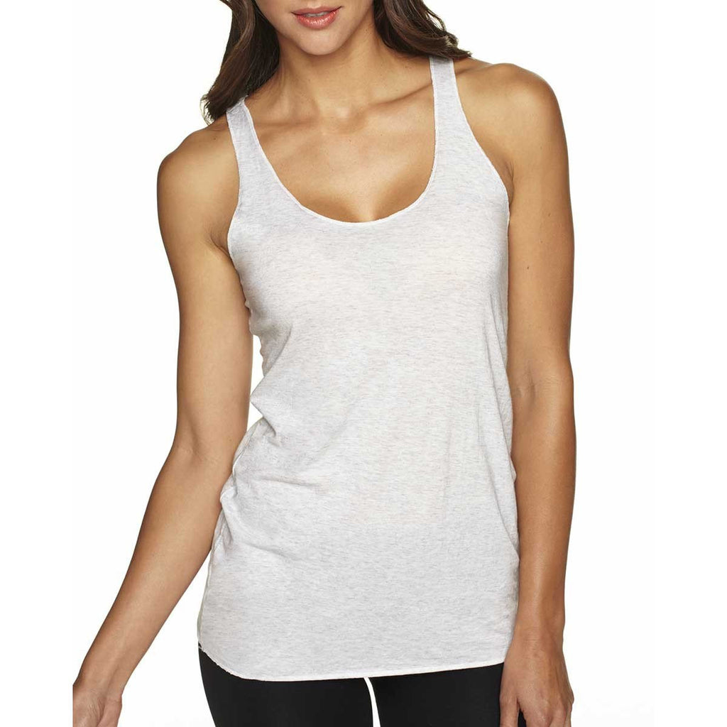 Next Level Women's Heather White Triblend Racerback Tank