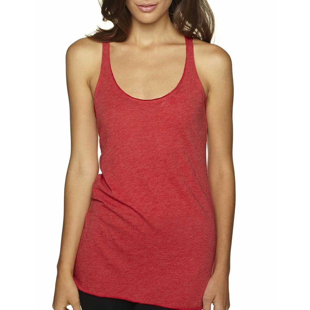 Next Level Women's Vintage Red Triblend Racerback Tank
