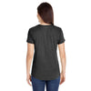 Anvil Women's Heather Dark Grey Triblend Scoop Neck T-Shirt