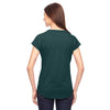 Anvil Women's Heather Dark Green Triblend V-Neck T-Shirt