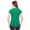 Anvil Women's Heather Green Triblend V-Neck T-Shirt
