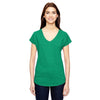 6750vl-anvil-women-green-t-shirt