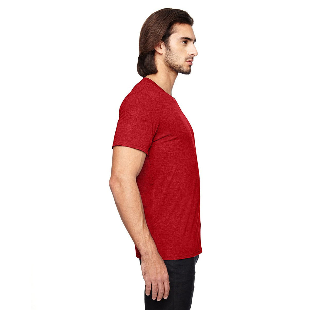 Anvil Men's Heather Red Triblend T-Shirt