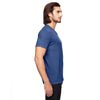Anvil Men's Heather Blue Triblend V-Neck T-Shirt