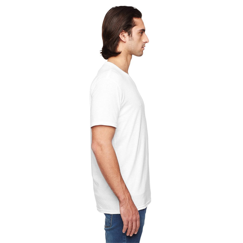 Anvil Men's White Triblend V-Neck T-Shirt
