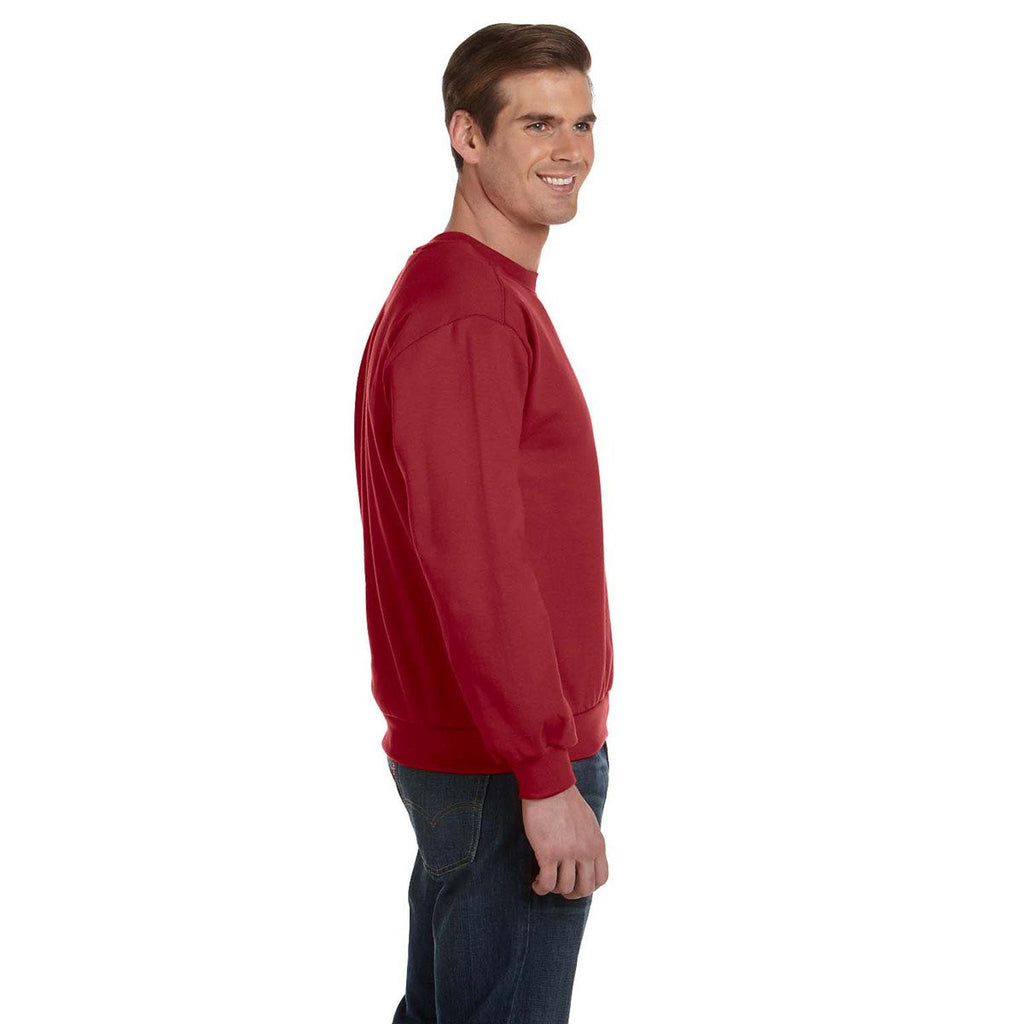 Anvil Men's Independence Red Crewneck Fleece Sweatshirt