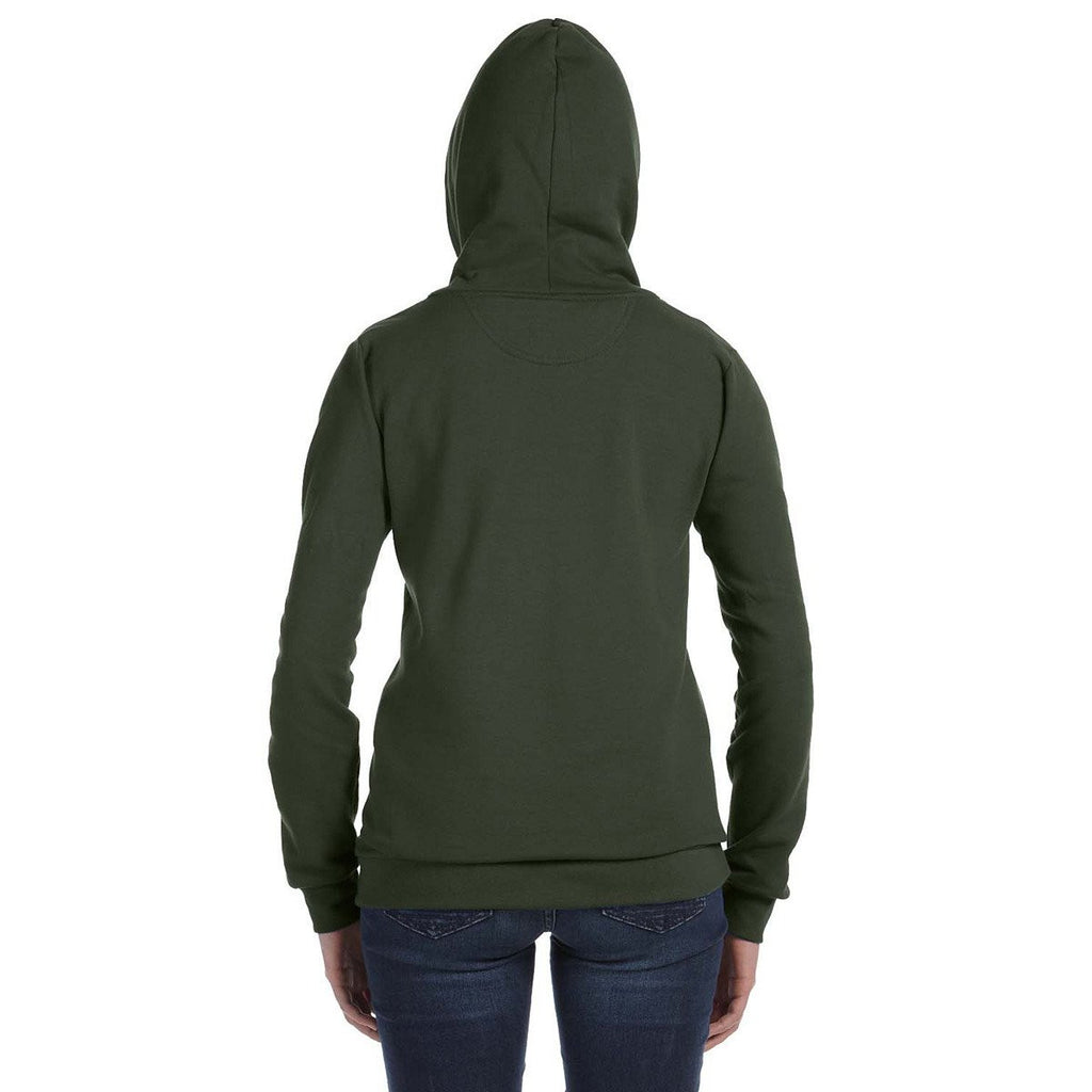 Anvil Women's City Green Full-Zip Hooded Fleece