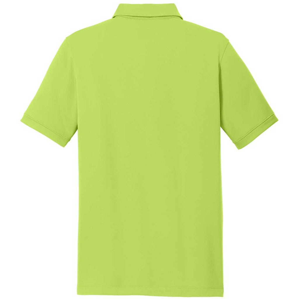 Nike Men's Chartreuse Green Dri-FIT Solid Icon Pique Polo