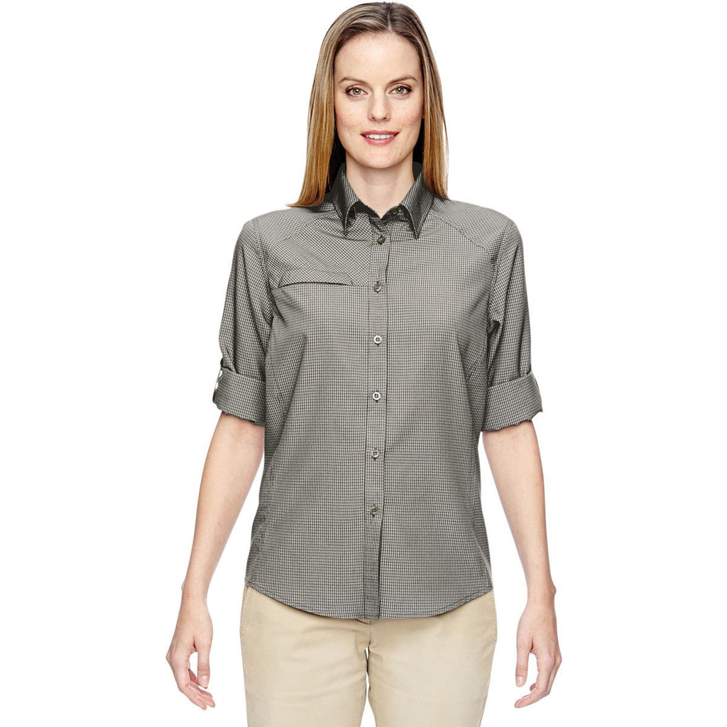 North End Women's Dark Oakmoss Excursion F.B.C. Textured Performance Shirt