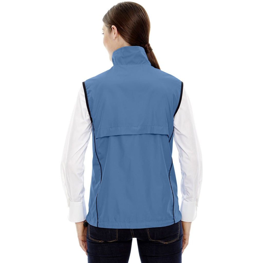 North End Women's Lake Blue Techno Lite Activewear Vest