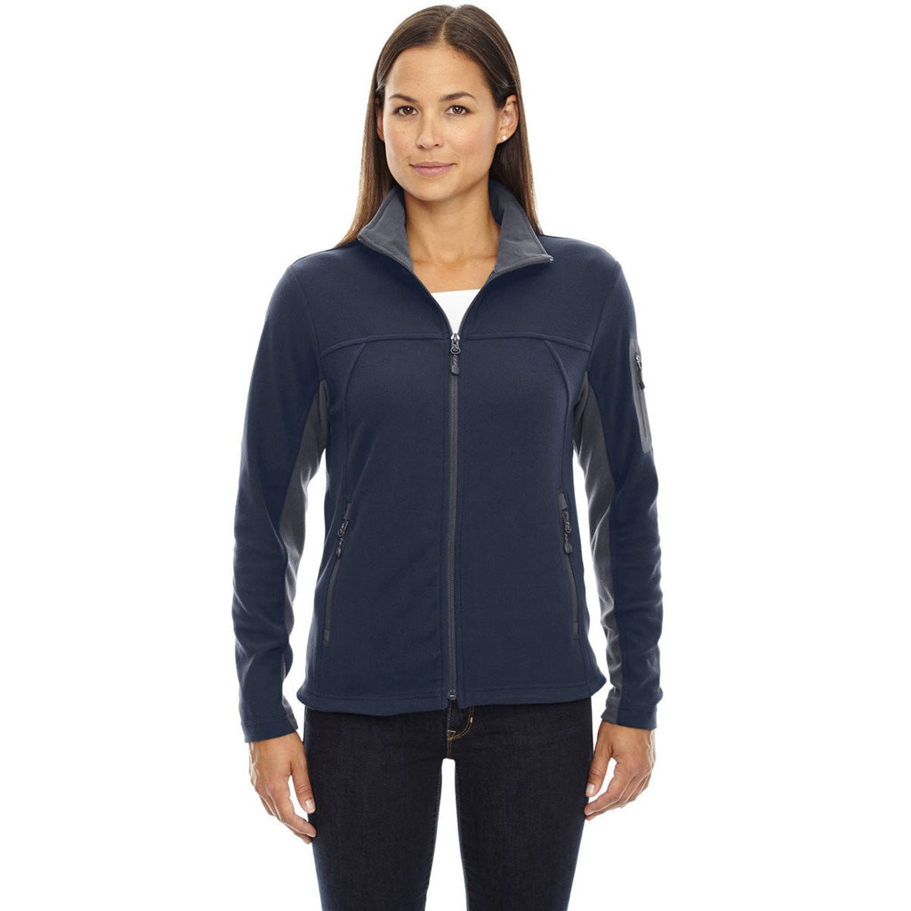 North End Women's' Midnight Navy Microfleece Jacket