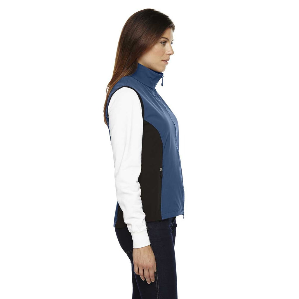 North End Women's' Regata Blue Three-Layer Light Bonded Performance Soft Shell Vest