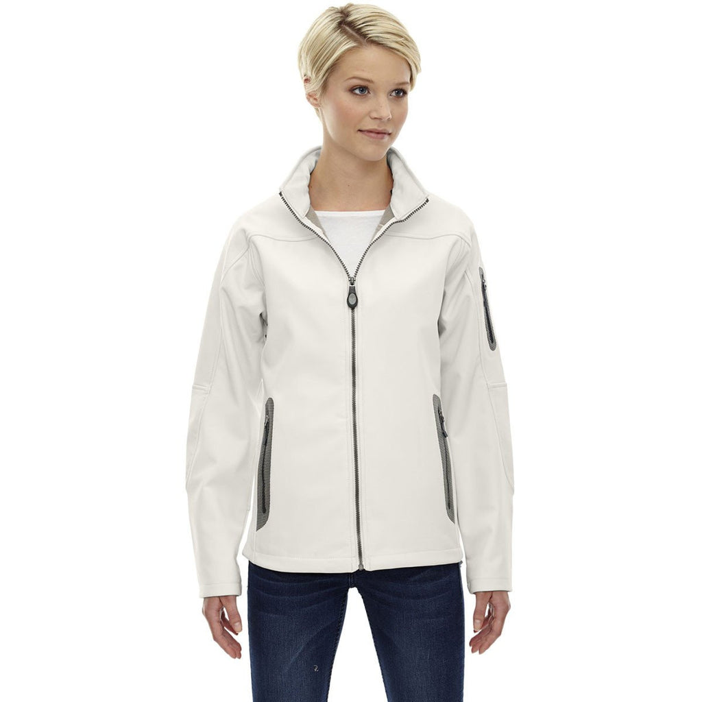 North End Women's' Crystal Quartz Three-Layer Fleece Bonded Soft Shell Technical Jacket