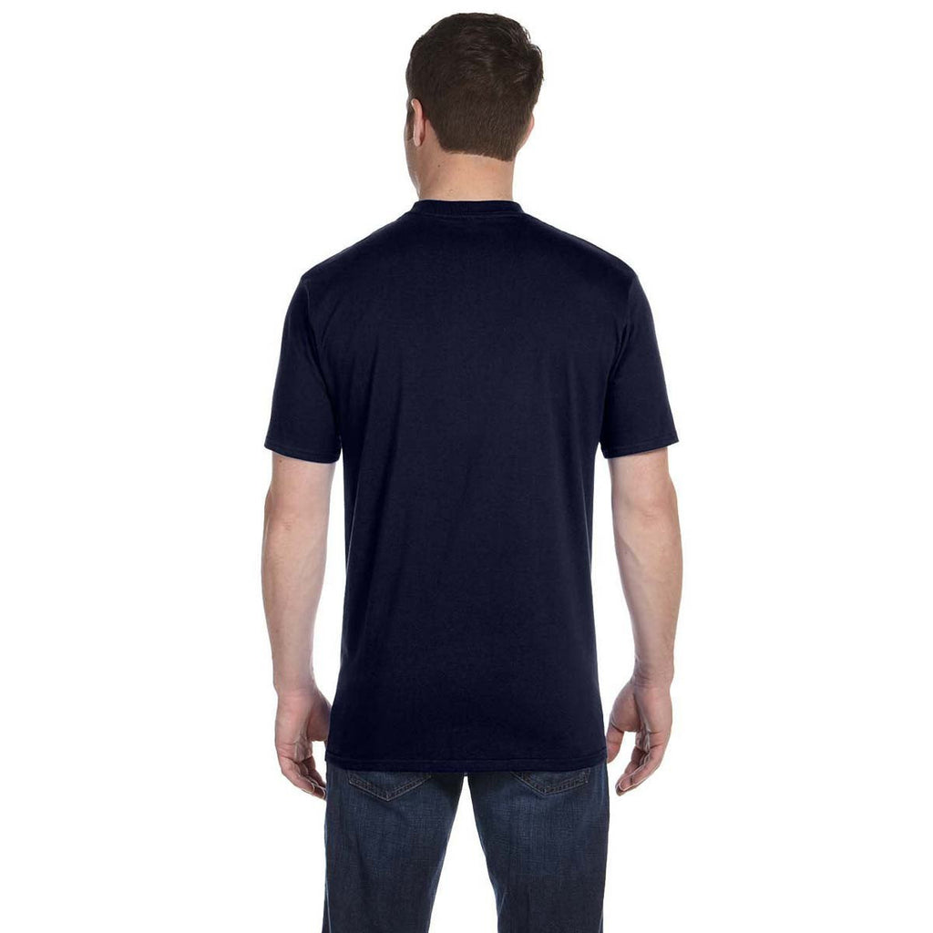 Anvil Men's Navy Midweight T-Shirt