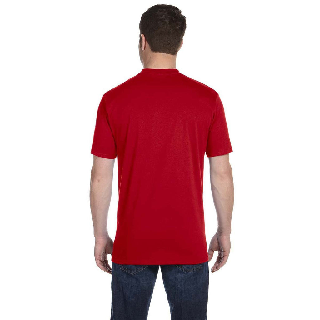 Anvil Men's Red Midweight T-Shirt