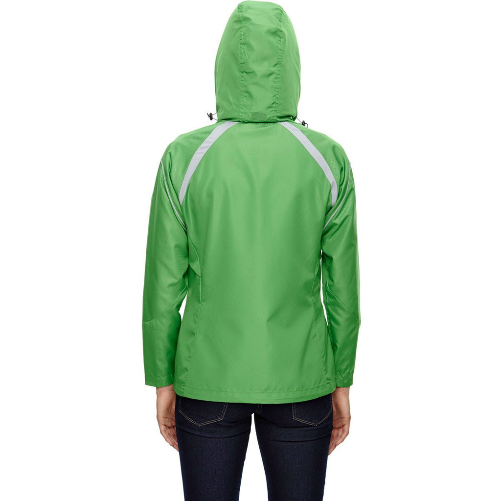 North End Women's Valley Green Sirius Jacket with Embossed Print