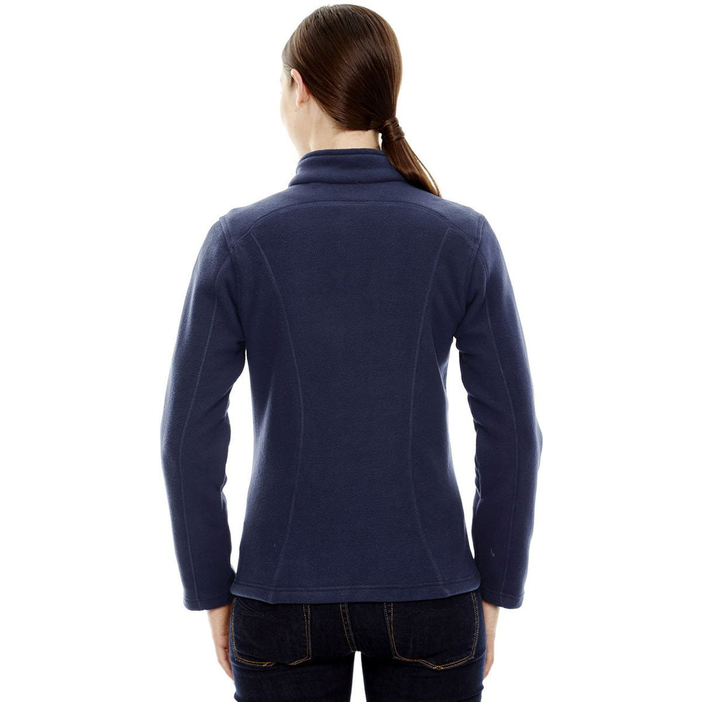 North End Women's Classic Navy Voyage Fleece Jacket
