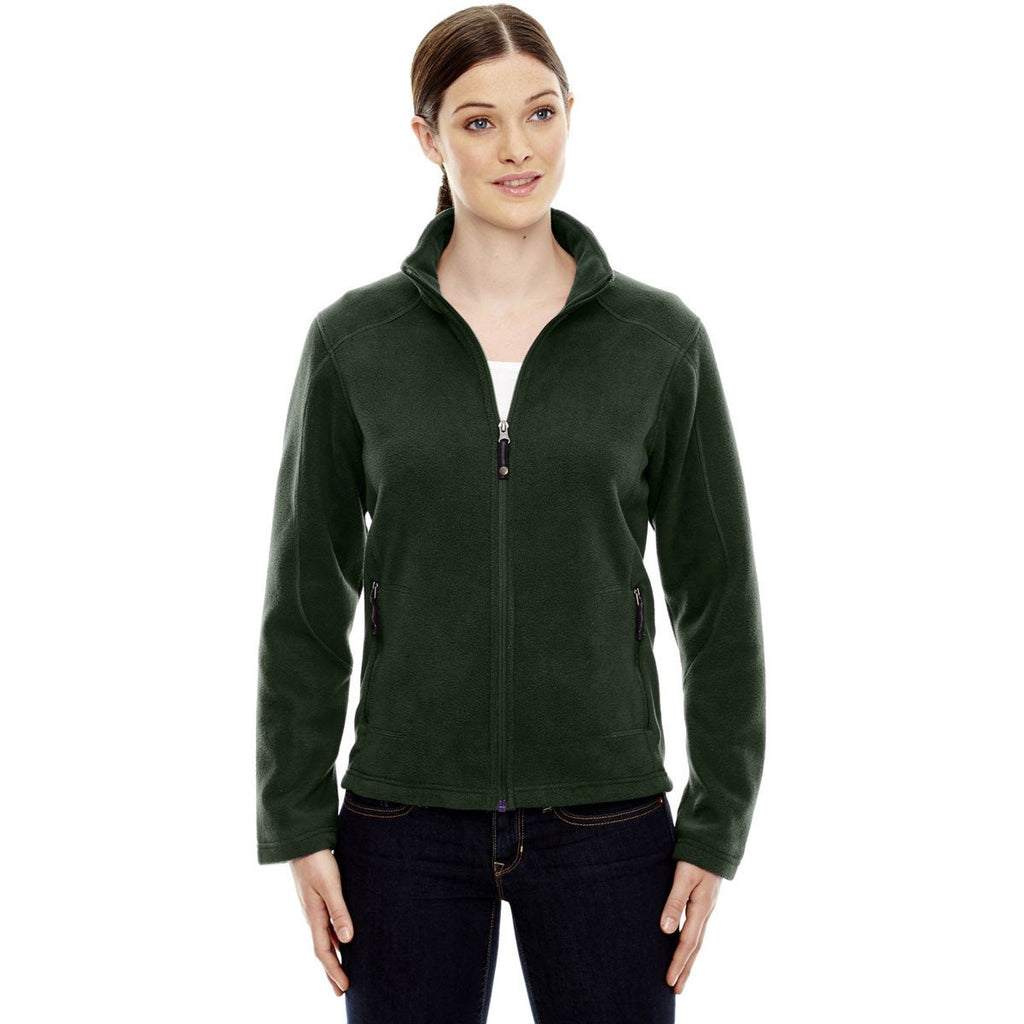 North End Women's Forest Green Voyage Fleece Jacket