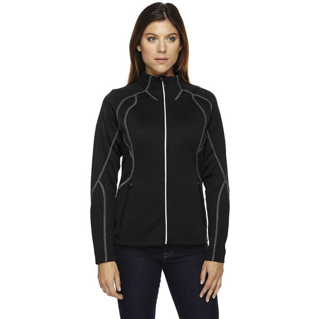 North End Women's Black Gravity Performance Fleece Jacket