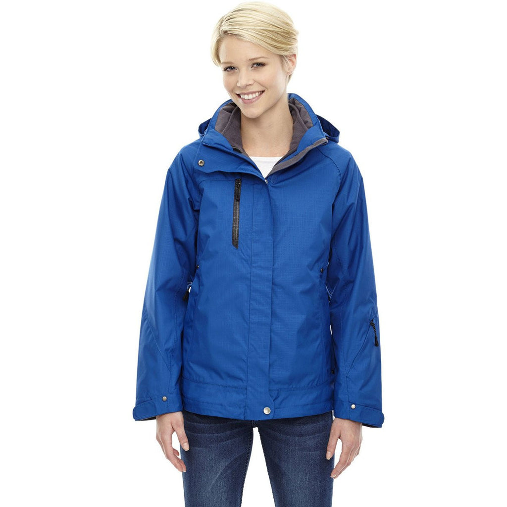 North End Women's Nautical Blue Caprice 3-In-1 Jacket with Soft Shell Liner