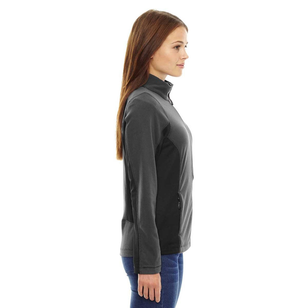 North End Women's Carbon Generate Textured Fleece Jacket