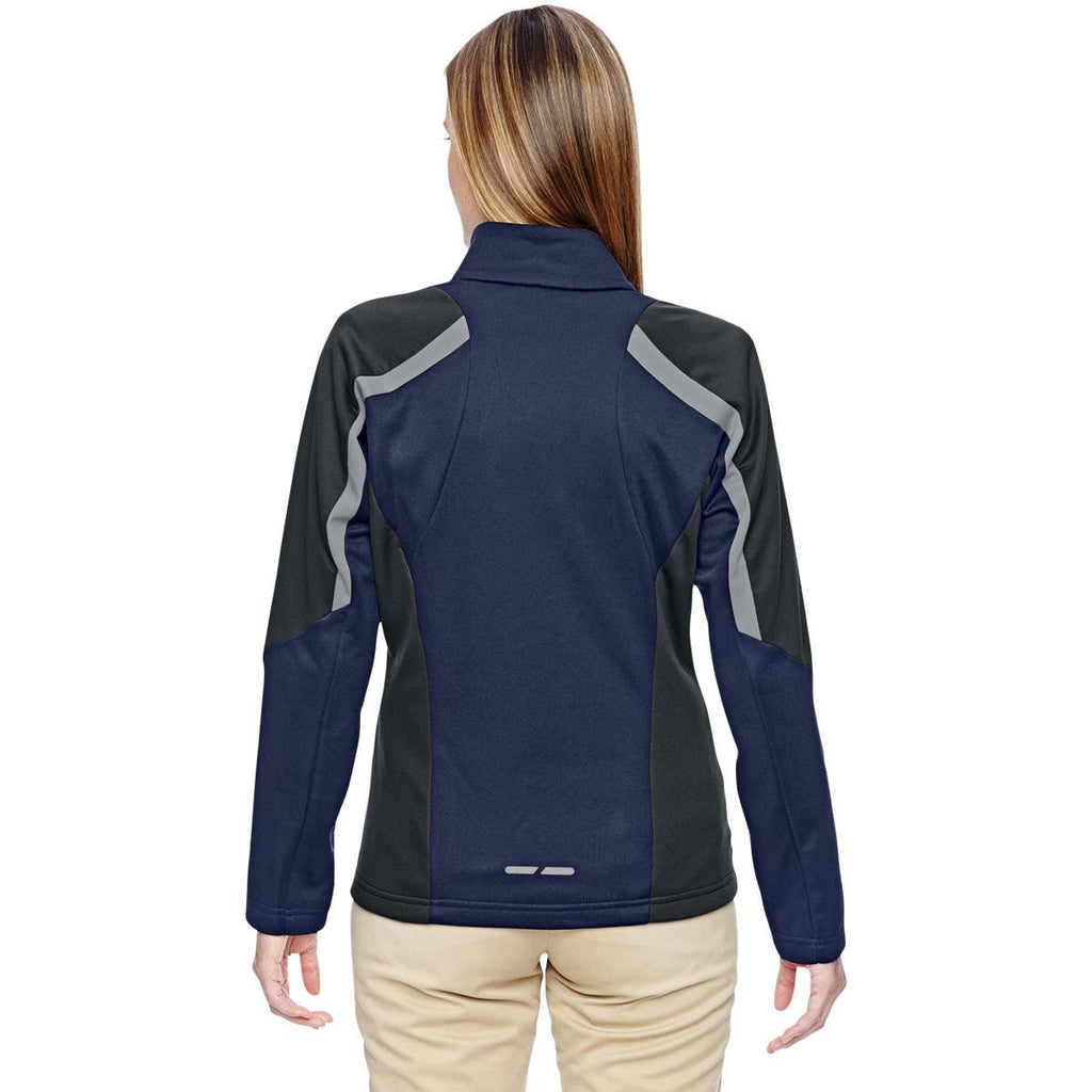 North End Women's Classic Navy Strike Colorblock Fleece Jacket