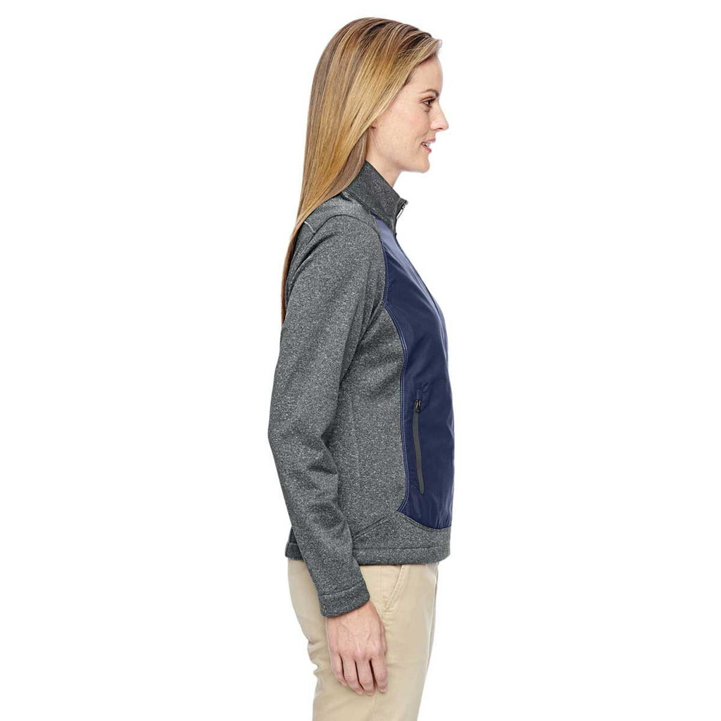 North End Women's Classic Navy Victory Hybrid Performance Fleece Jacket